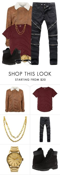 """""""2 21 17"""" by miizz-starburst on Polyvore featuring Topman, Hollister Co., Roial, Nixon, Timberland, men's fashion and menswear"""