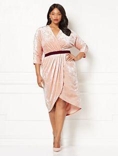 bda73f65df180 Shop Eva Mendes Collection - Ani Velvet Wrap Dress - Black - Plus. Find your
