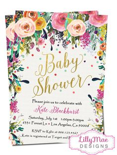 Hey, I found this really awesome Etsy listing at https://www.etsy.com/listing/289041301/baby-girl-shower-invitation-watercolor