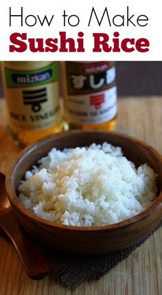 Sushi rice is the building block of Japanese sushi. Easy and the best sushi rice recipe with steamed rice, rice vinegar, salt and sugar. Best Sushi Rice, Sushi Rice Recipes, Easy Rice Recipes, Asian Recipes, Making Sushi Rice, Rice For Sushi, Making Sushi At Home, Cabbage Recipes, Rib Recipes