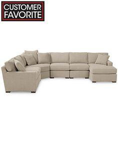 Radley Fabric 6 Piece Modular Chaise Sectional