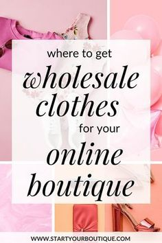 Starting an online clothing boutique but unsure about where to buy wholesale clothing? Click through for a list of tradeshows and wholesale marketplaces for online boutique owners. All based in America Source by clothes Starting An Online Boutique, Fashion Business, Wholesale Boutique Clothing, Baby Boutique Clothing, Wholesale Jewelry, Business Plan Template, Think, Online Clothing Boutiques, Clothing Websites