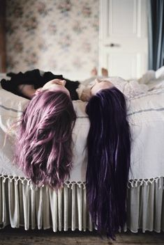 30 Shades Of Purple Hair - bff hair? Bubbline, Before Wedding, Jolie Photo, Best Friends Forever, Two Best Friends, Shades Of Purple, Dark Purple, Light Purple, Dusty Purple