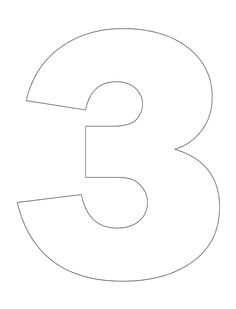 number pictures to color - 3 Coloring Page