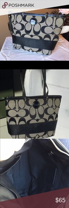 4201bf271e Authentic Coach Handbag Excellent condition Coach purse. Signature pattern  with all black inside. It