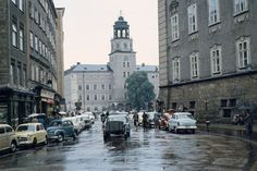 Amazing Pics Capture Street Scenes of Salzburg in the Early 1960s ~ Vintage Everyday Baroque Architecture, Amazing Pics, Salzburg, Capital City, Colorful Pictures, Alps, Short Film, 18th Century, Austria