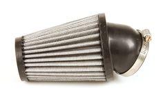 K&N R-1100 Luftfilter mit auswaschbarem Baumwollfilter und Gummikappe. Idealer Luftfilter für einen Dellorto PHBH Vergaser auf einem Vespa Largeframe Motor.