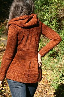 There's nothing better than a hooded sweater in the autumn! Paridae is a comfortable, cozy sweater that wraps you in warmth, with sleeves long enough to pull over your fingers when sipping that hot apple cider, and a hood generous enough to keep your head and shoulders warm without the dreaded hat-hair.