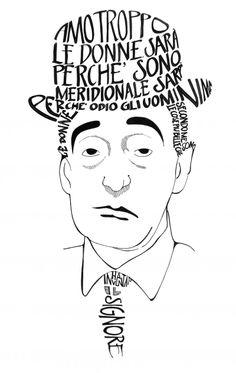 Calligramma   Totò  by GIOVANNA BRONICO