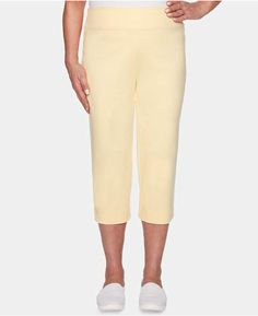 8178a116d7c Alfred Dunner Endless Weekend Cropped Flat Front Knit Pants Alfred Dunner