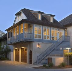 Deck Over Garage Design Ideas, Pictures, Remodel, and Decor - page 2 Porch Over Garage, Room Above Garage, Garage House, Garage Doors, Above Garage Apartment, Garage Stairs, Barn Apartment, Garage Pergola, Steel Pergola