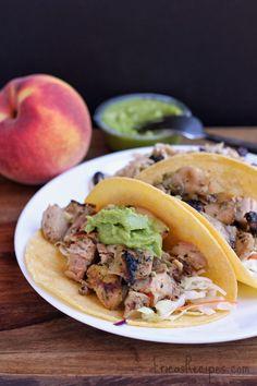 Orange and Cilantro-Marinated Chicken Tacos