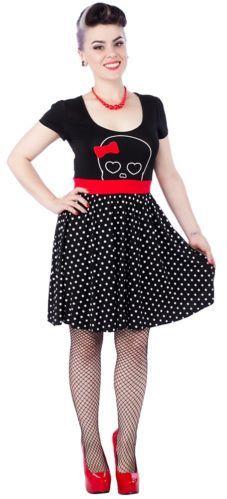 Women's Sourpuss Hunny Lulu Dress Rockabilly Psychobilly Punk Girly Skull Bow | eBay