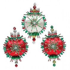 Mary Maxim - Holiday Trio Ornaments - New Items