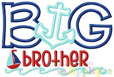 Nautical Big Brother Machine Embroidery by HappytownApplique