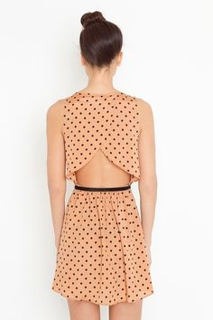 Cute dress with a super cool back.