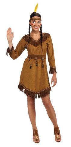 INDIAN NATIVE WILD WEST COWBOY Plus Size Womens Ladies Fancy Dress Costume