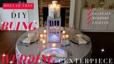 In this video, I'm going to show you how to make a DIY Bling wedding centerpiece. This Dollar tree centerpiece is covered in diamond bling,. Dollar Store Centerpiece, Bling Centerpiece, Centerpiece Rentals, Diy Centerpieces, Bling Wedding Decorations, Kids Party Decorations, Ceremony Decorations, Wedding Planning Tips, Wedding Ideas