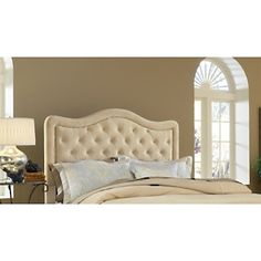 """Hillsdale Furniture Trieste Fabric Headboard - King - Buckwheat at HSN.com.  The ultimate """"princess"""" style bed...love it! #HSN #HouseBeautiful"""