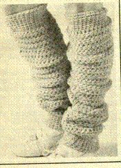 Leg Warmers - These leg warmers will be most appreciated in the dead of winter when temperatures plummet and winds wail, but be sure to have them crocheted and ready to wear #diy #crafts   https://www.etsy.com/shop/BobbleheadsEtsyShop