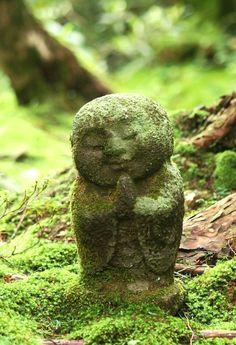 Moss Covered Jizō Buddha Statue @ Sanzen-in Temple and Moss Garden Ohara Japan