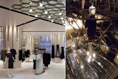 I like the honeycomb shape of the ceiling. glamour and luxury boutique design Glamour Boutique Design Boutique Design, Boutique Interior, Harvey Nichols, Jakarta, Honeycomb Shape, Boutique Stores, Retail Interior, Ceiling Design, Design Firms