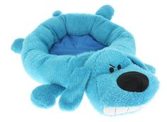 Multipet's 24-Inch Round Loofa Dog Bed, Blue - http://petproduct.reviewsbrand.com/multipets-24-inch-round-loofa-dog-bed-blue.html