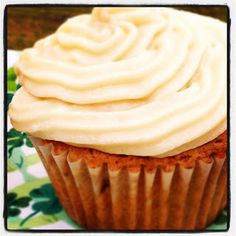 Bailey's Irish Cream Cupcakes via http://basilmomma.com. I might enjoy alcohol if it was in a cupcake!