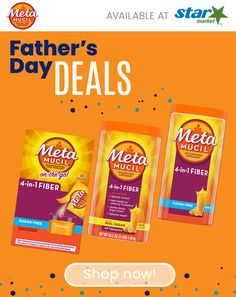 Discover great Father's Day deals at Star Market! Shop MetaMucil today! Melatonin Gummies, Head And Shoulders Shampoo, Father's Day Deals, Nighttime Sleep Aid, Great Father, Old Spice, Fish Recipes, Sugar Free, Fathers Day