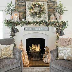 102 easy diy christmas mantel decor ideas for your fireplace 95