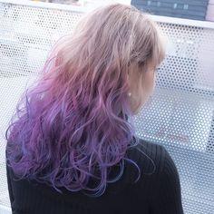 #mulpix ......my works...... お客様〜  #shachu #hair #color #ヘアカラー #グラデーションカラー #ベージュ #ハイライト #カラーバター #パープル #ピンク #ブルー #卒業式 #卒業式ヘア #卒業式ヘアカラー #のご予約ご相談はお早めに
