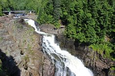 We visited Canyon Ste-Anne in Quebec and saw a spectacular waterfall, gorge, and three suspension bridges to walk across!