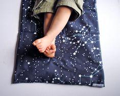 Galaxy Night Stars Organic Toddler Nap Mat by SewnNatural