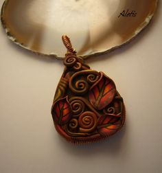 Polymer Clay Jewelry Handmade  Polymer Clay & Copper by Aletis