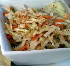 Cole Slaw with balsamic and red wine vinegar ....Made this tonight and it was incredible.