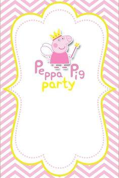 Convites gratuitos da peppa pig peppa pig invitations pig party peppa pig birthday ideas peppa pig birthday invitations peepa pig ideas para fiestas party invitations princess peppa pig party frame template stopboris Image collections