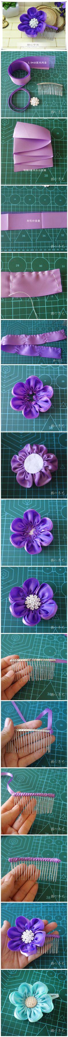 Bunga kanzashi polos