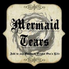 mermaid tears label