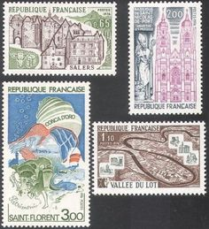 France-1974-Tourism-Buildings-Cattle-Sea-Boat-Architecture-4v-set-n32283