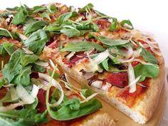 Citromhab: Rukkolás pizza Make Your Own Pizza, Pizza Dough, Vegetable Pizza, Frozen, Lemon, Vegetables, Food, Essen, Vegetable Recipes