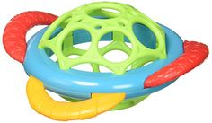 Oball Grasp & Teethe Teether - Get a Grip on Playtime. Multi-textured teether features an easy to hold Ball core that helps baby keep teether close to soothe achy gums. With multiple surfaces for teething this colorful and engaging teether provides fast relief from teething pain.