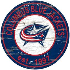Consumed with state pride and a love of the Blue Jackets? This spirited state pride wall art is constructed with MDF for stability then painted in a slightly distressed manner that highlights the roadways of the state. Distressed Wood Wall, Distressed Signs, Columbus Blue Jackets, New Jersey Devils, Colorado Avalanche, Wall Decor, Wall Art, How To Distress Wood, Rustic Design