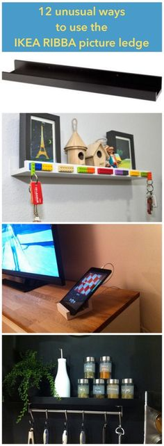 12 unusual ways to use the RIBBA picture ledge all round the house - IKEA Hackers - IKEA Hackers