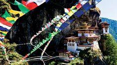 the tiny kingdom of Bhutan ... eastern Himalaya ... Tiger's Nest Monastery