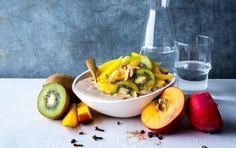 Chai Spice Smoothie Bowl With Mango and Kiwi
