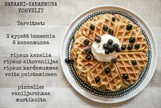 TISKIVUOREN EMÄNTÄ: Kananmuna-banaanivohvelit