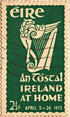 Irish stamp 1953 - love the griffin harp! Erin Go Braugh, Books Art, Irish Images, Love Ireland, Irish Eyes Are Smiling, Irish Pride, Irish Roots, Irish Girls, Irish Blessing
