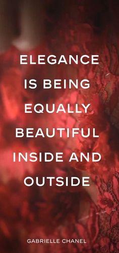 Thoughts on Elegance. #Chanel #Elegance