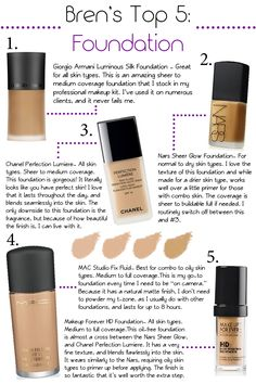 Makeup forever my favorite! Need to try the chanel!