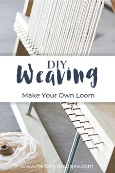 Adjustable Weaving Loom Plans – Make Your Own Loom! Make your own DIY weaving loom. The loom can be adjusted so you can adapt it depending on the size of your weaving project. Get the ebook here www. Weaving Loom Diy, Hand Weaving, Rug Loom, Weaving Textiles, Tapestry Weaving, Mason Jar Crafts, Mason Jar Diy, Carpet Diy, Weaving Projects
